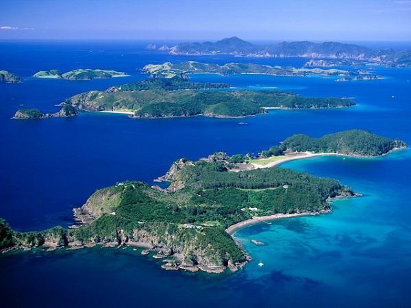 Залив островов. Новая Зеландия