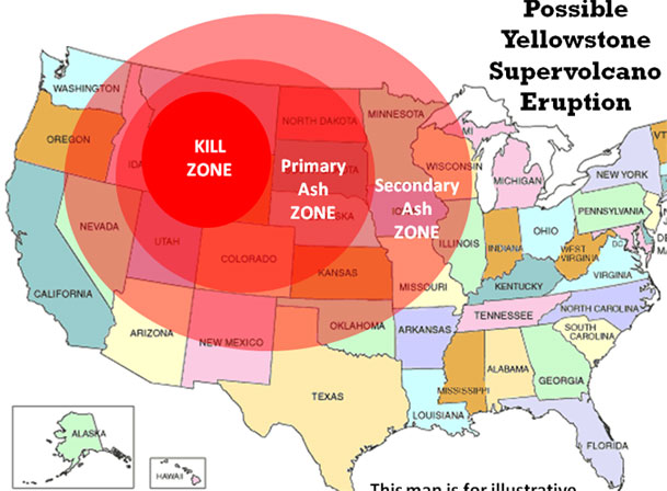 Вулкан Йеллоустоун – извержение супергиганта 2014