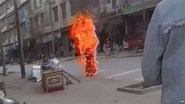 самосожжение в Тибете