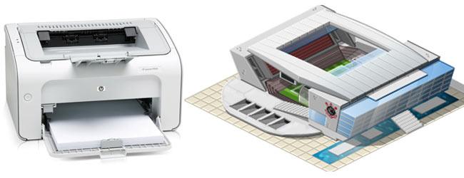 Стадион принтер Бразилия