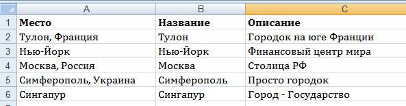заполненный файл Excel