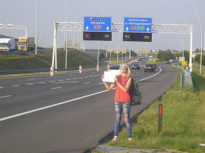 Автостоп в Амстердам
