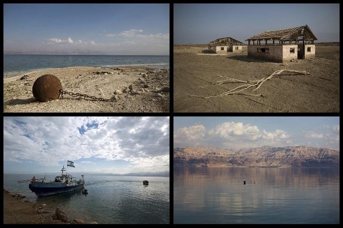 Мертвое море, снижение уровня воды