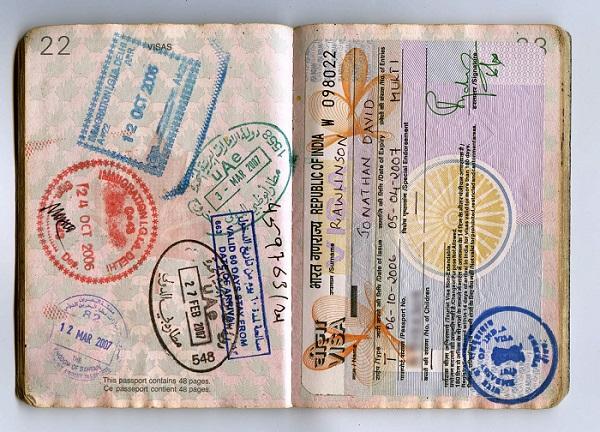 Индийская виза в паспорте