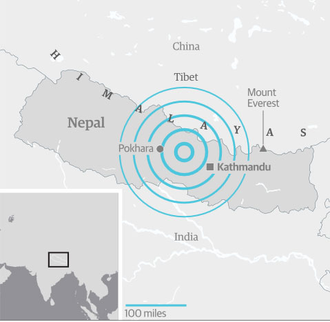Землетрясение в Непале и Тибете