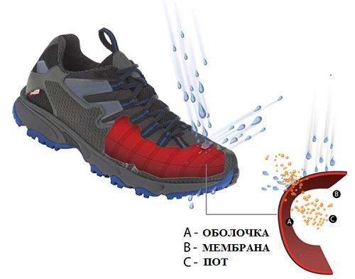 71bff27c11ba Мембрана OutDry используется производителями одежды и обуви для активного  отдыха. Технология OutDry создаёт водонепроницаемы дышащий барьер.