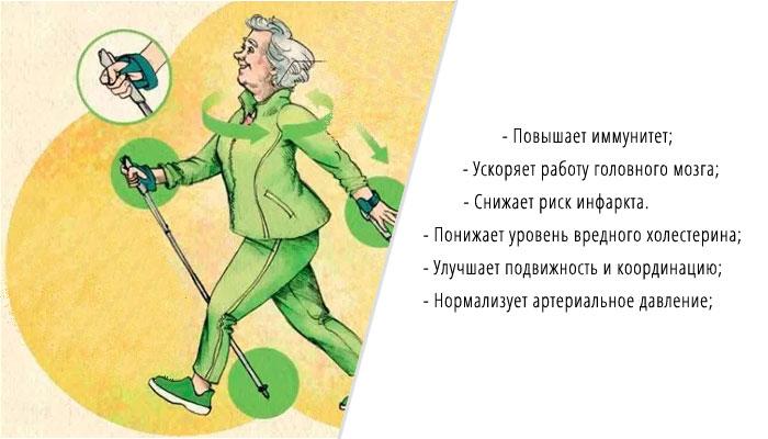 скандинавская (нордическая) ходьбы для пожилых и пенсионеров