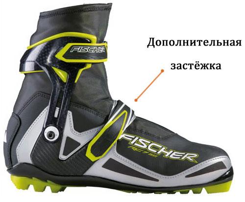 дополнительная застёжка на беговых лыжных ботинках