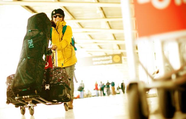 перевозка лыж в самолёте