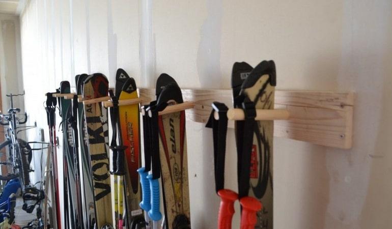 хранение лыж