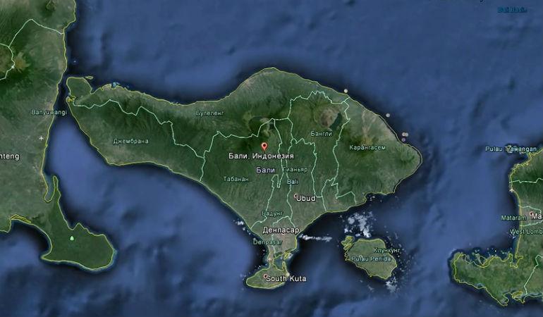 Фото острова на карте